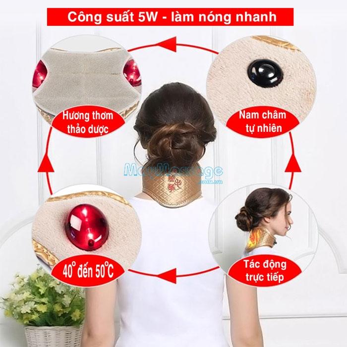 Đai quấn nóng tạo nhiệt sưởi ấm điều trị đau mỏi cổ, trật cổ YIJIA YJ-906A
