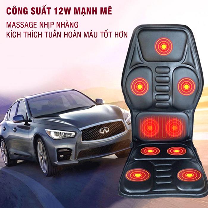 Nệm massage ô tô nhiệt sưởi MingZhen 308 - 12V