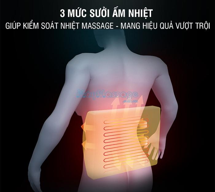 Đệm massage lưng rung nóng thảo dược YJ-M4