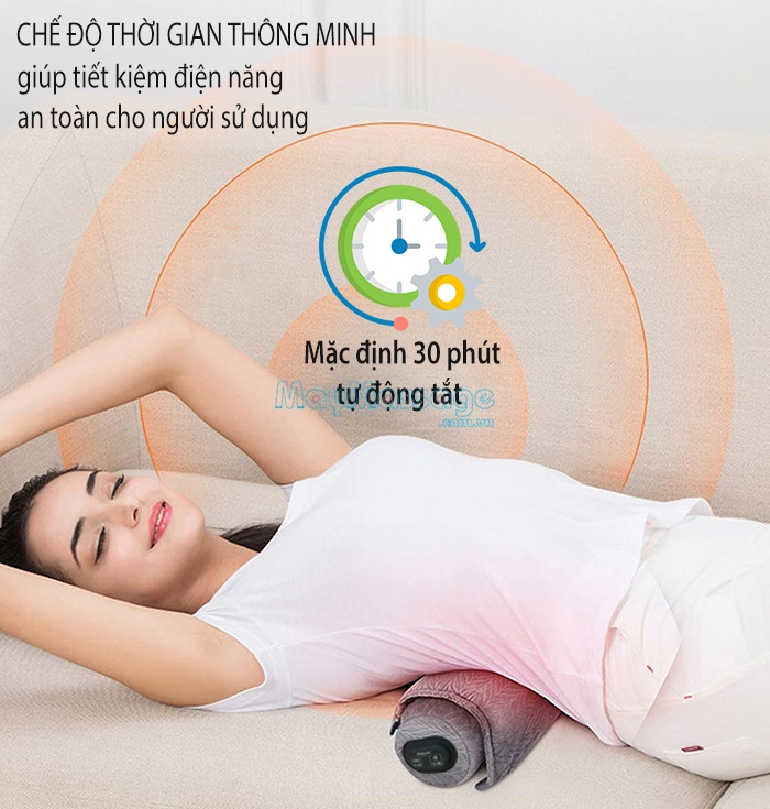 Gối massage cổ vai gáy tạo nhiệt nóng Mingzhen MZ-MR053