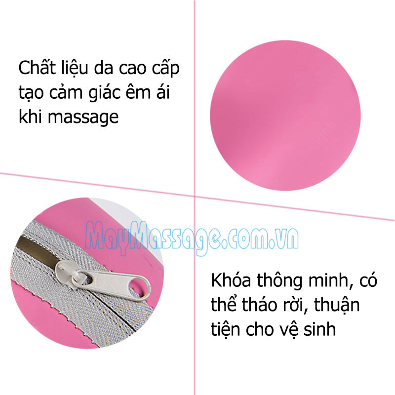 Gối massage đèn hồng ngoại Pillow Magic New NPL-819