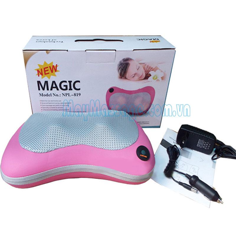 Gối massage đèn hồng ngoại Pillow Magic