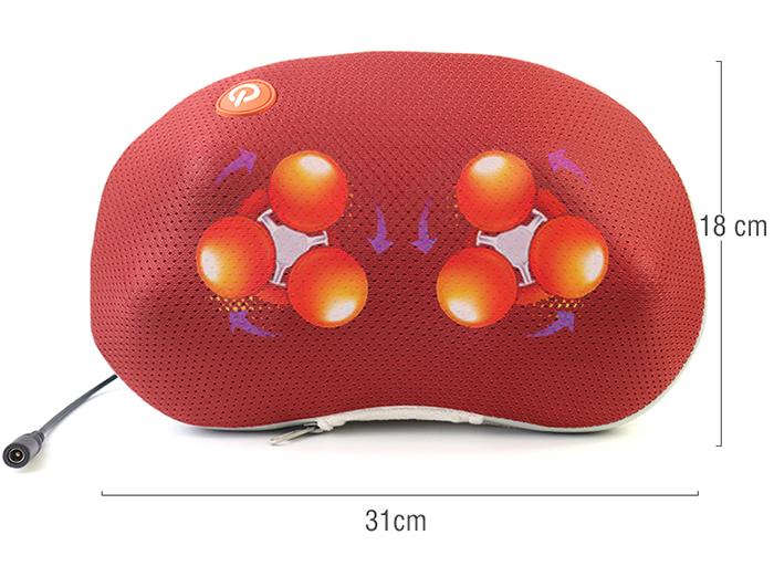 Gối massage hồng ngoại điều trị đau mỏi cổ PULI PL-817B