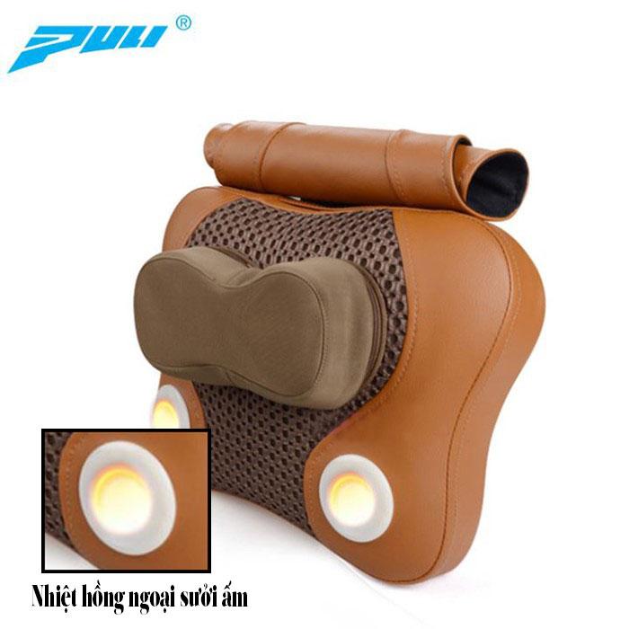 Gối massage đấm bóp lưng hồng ngoại PULI PL-809C