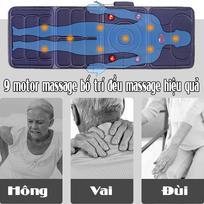 Nệm massage hồng ngoại JB-618A