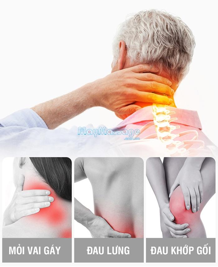 Nệm massage toàn thân hồng ngoại trị đau lưng cổ vai gáy Nikio NK-151