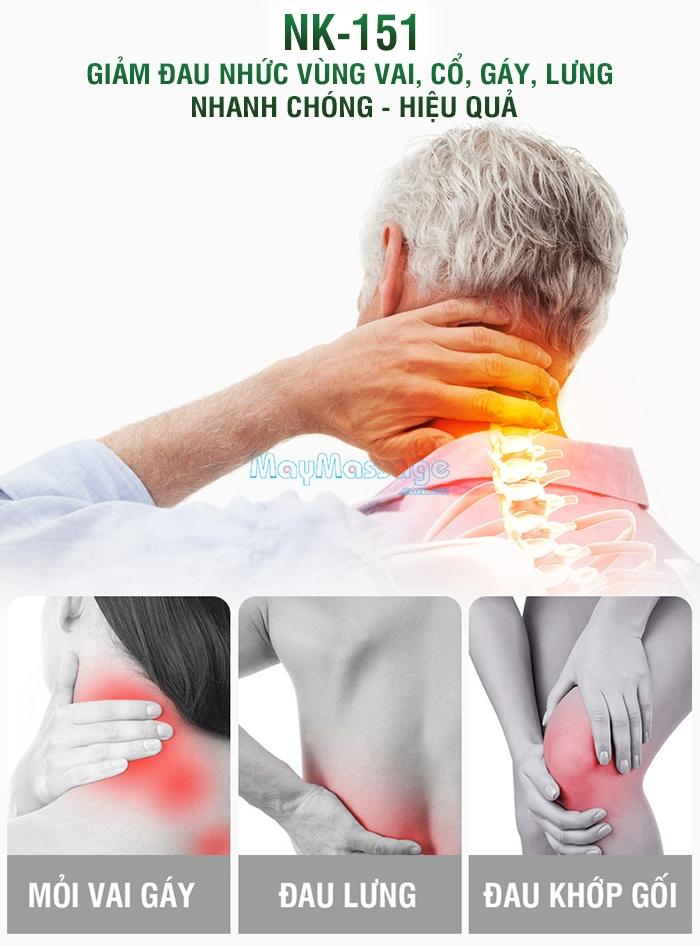 Nệm massage toàn thân 2 chế độ tự động điều chỉnh Nikio NK-151