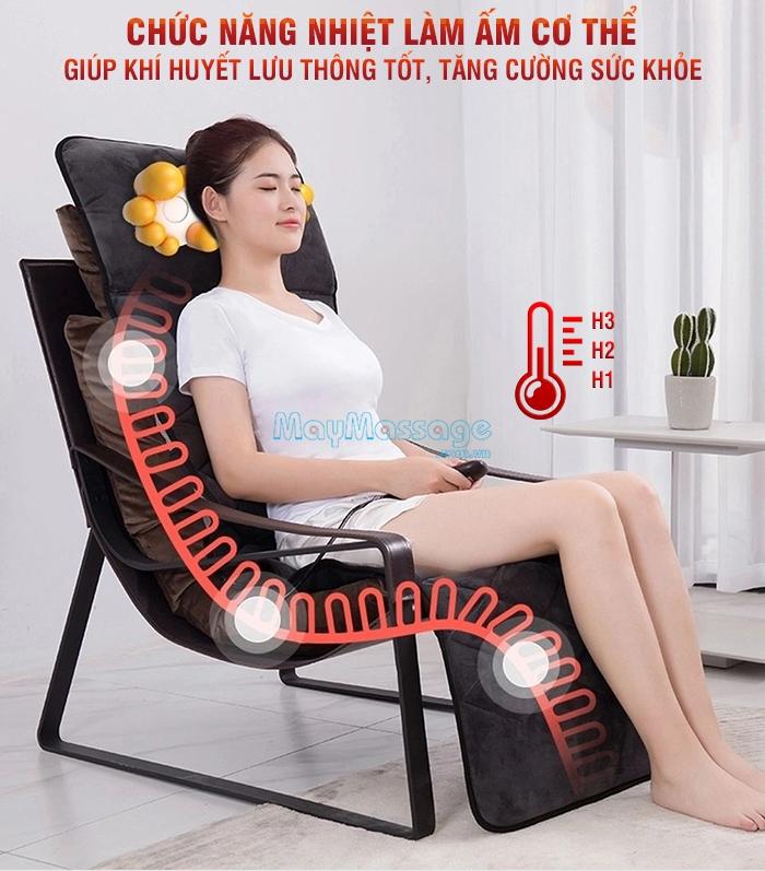 Nệm massage toàn thân hồng ngoại Nikio NK-151