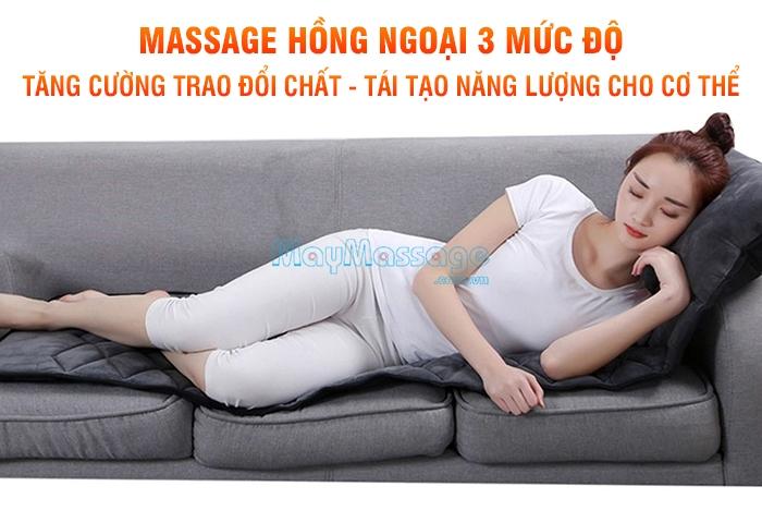 Nệm massage toàn thân 3 mức cường độ Nikio NK-151
