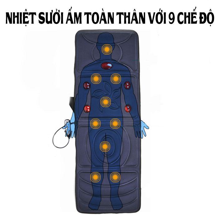 Đệm massage toàn thân hồng ngoại cao cấp YJ-306