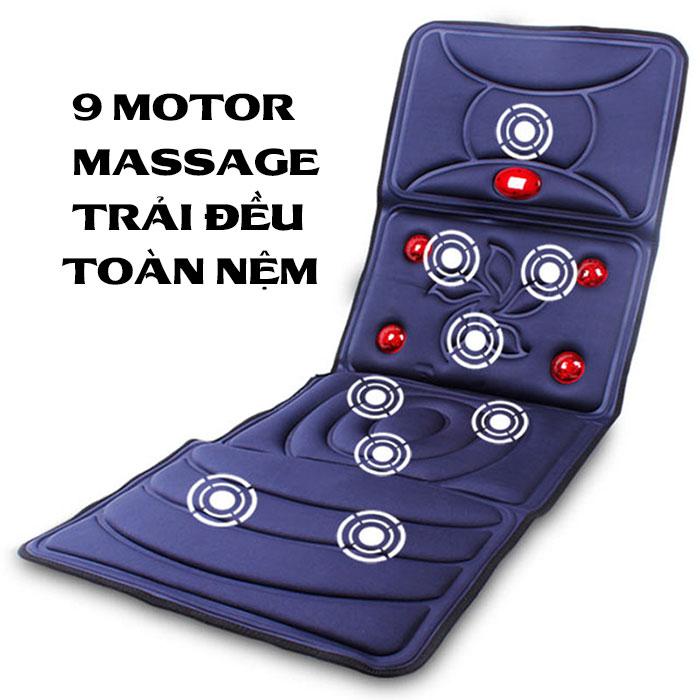Đệm massage toàn thân hồng ngoại cao cấp