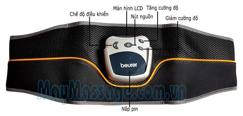Đai massage xung điện giảm mỡ bụng Beurer EM35