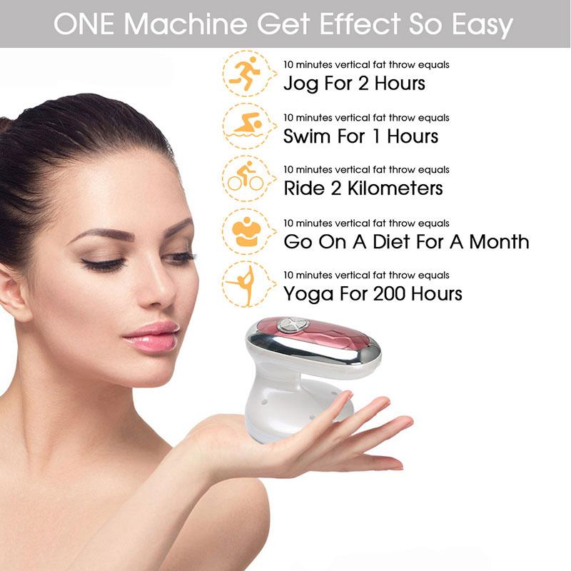 Máy massage giảm béo bằng tần số vô tuyến Radio 4in1 màu trắng