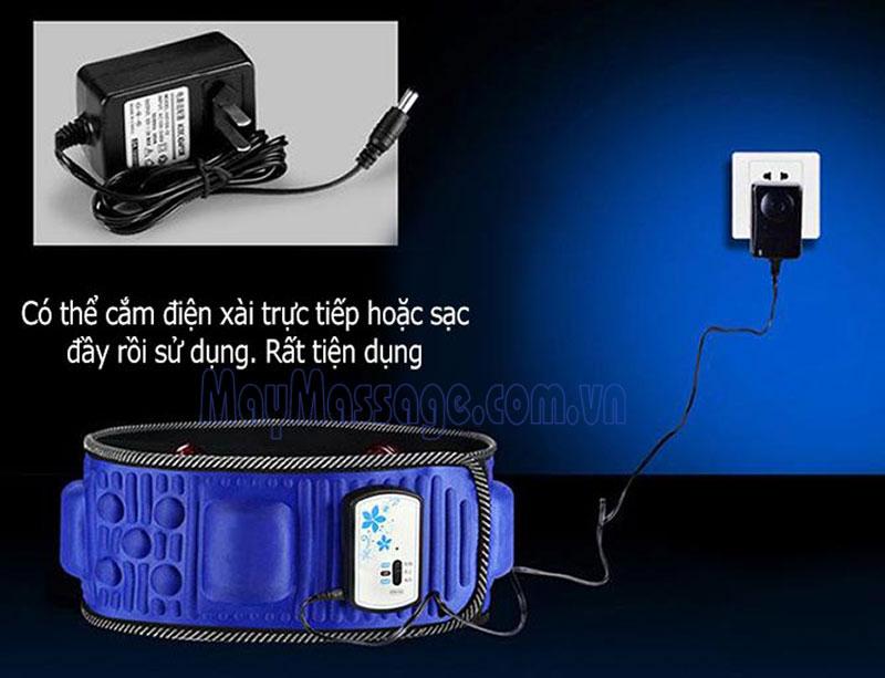 Đai massage bụng pin sạc X5 HL-602 đèn hồng ngoại