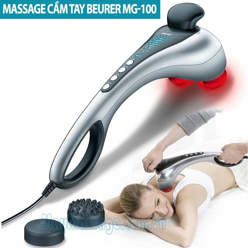 Máy massage cầm tay 2 đèn hồng ngoại Beurer MG-100