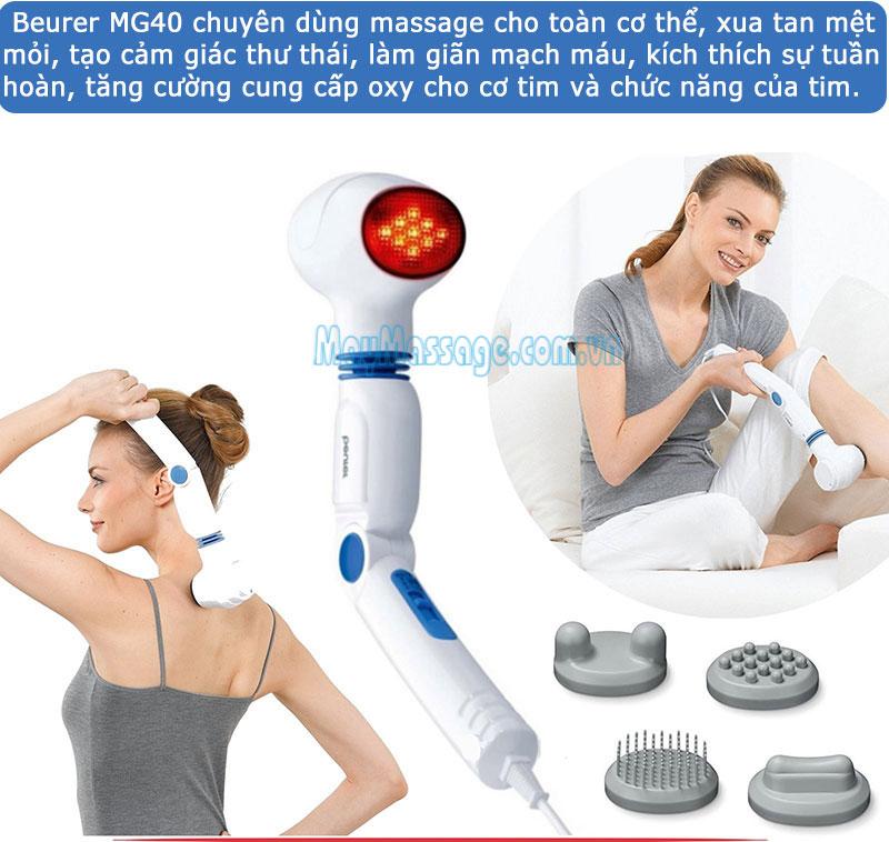 Máy massage cầm tay đèn hồng ngoại Beurer MG40