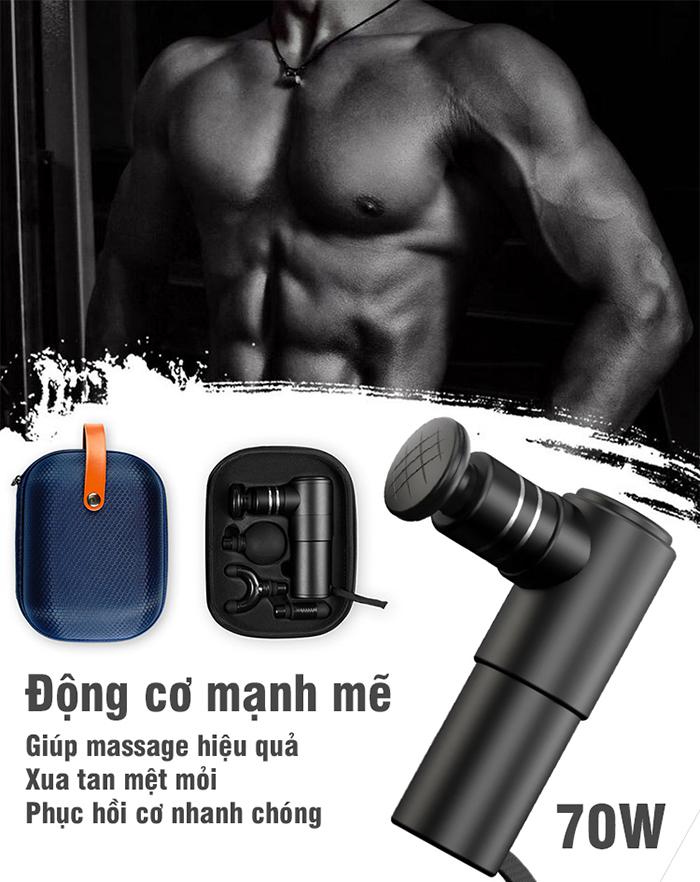 Súng massage gun cầm tay trị đau mỏi cơ Booster MINI