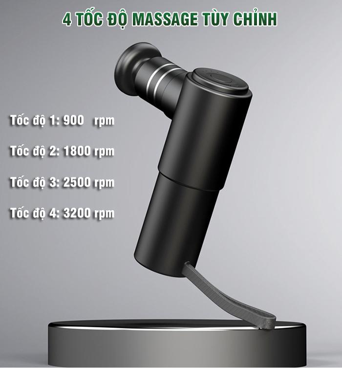 Súng massage gun cầm tay trị đau mỏi cơ Booster MINIv