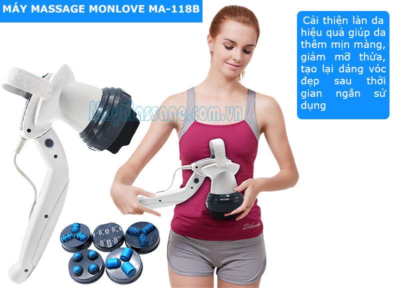 Máy massage cầm tay 6 đầu Monlove MA-118B