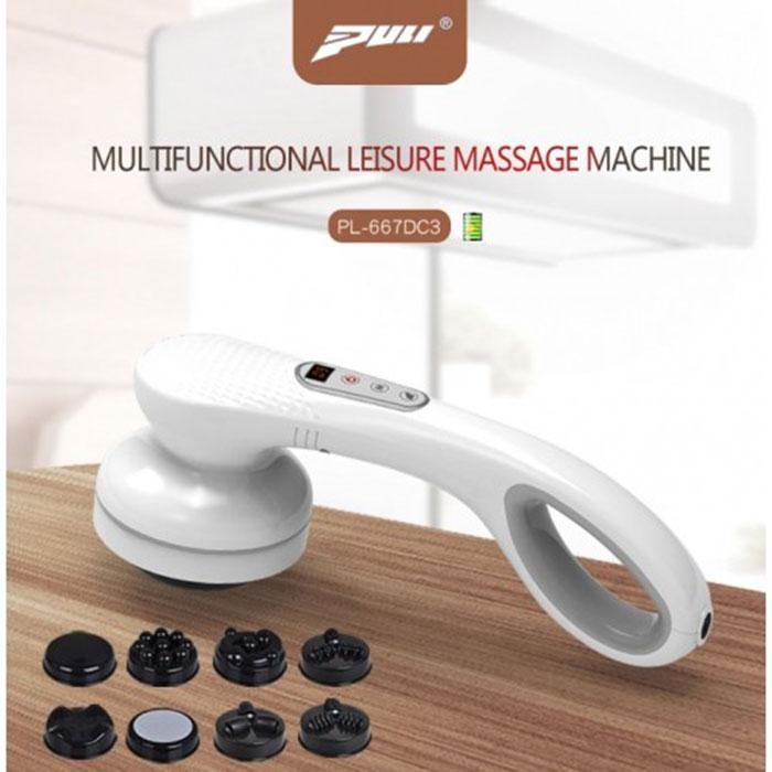 Máy massage cầm tay pin sạc hồng ngoại 8 đầu