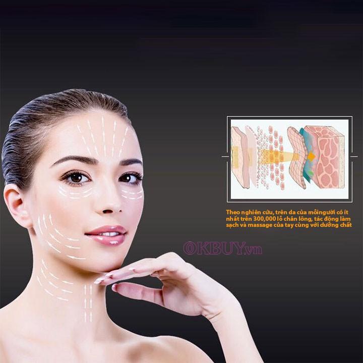 Búa massage nóng lạnh trẻ hóa da mặt tạo inon D002