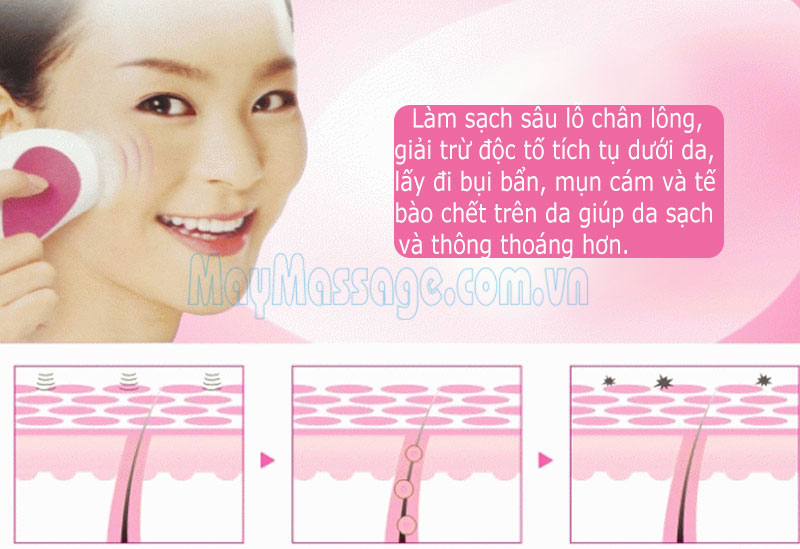 massage rửa mặt mini OK Enjoy DS-028