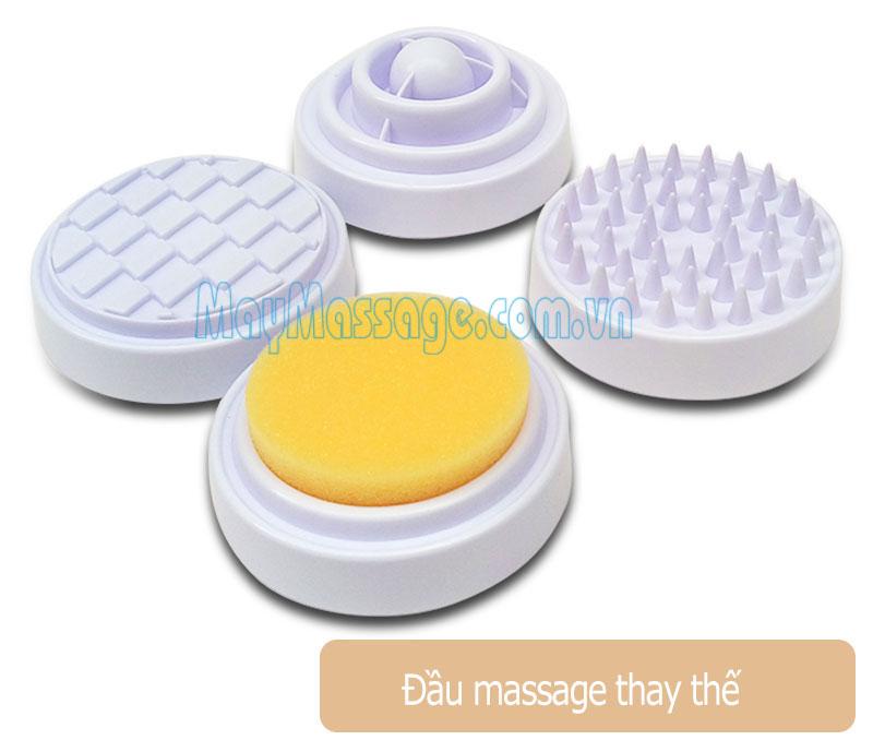 Máy massage tạo nóng 4 đầu Kolvin DH2
