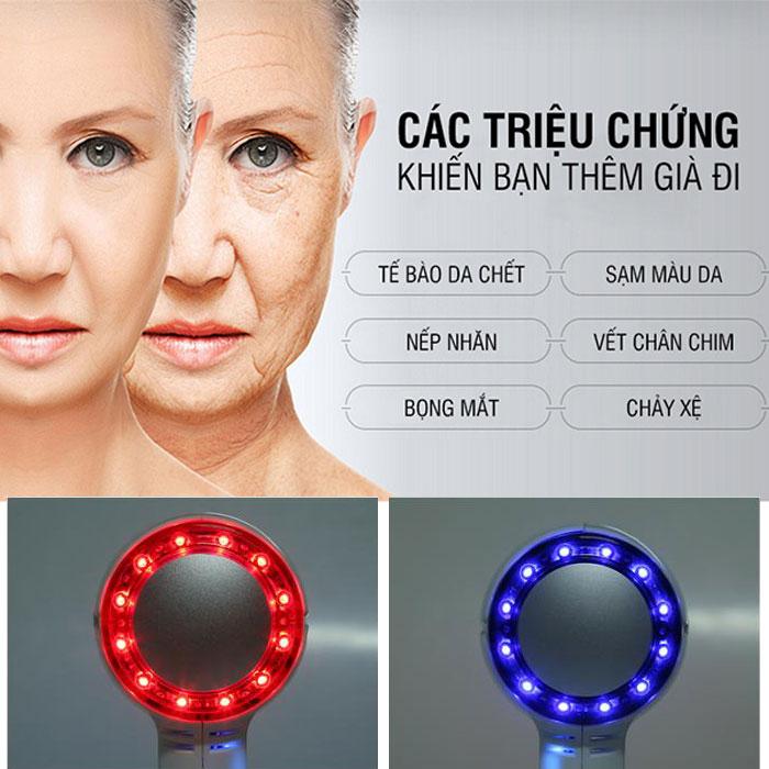 massage mặt trẻ hóa da bằng ánh sáng sinh học Hàn Quốc Hot&Cold