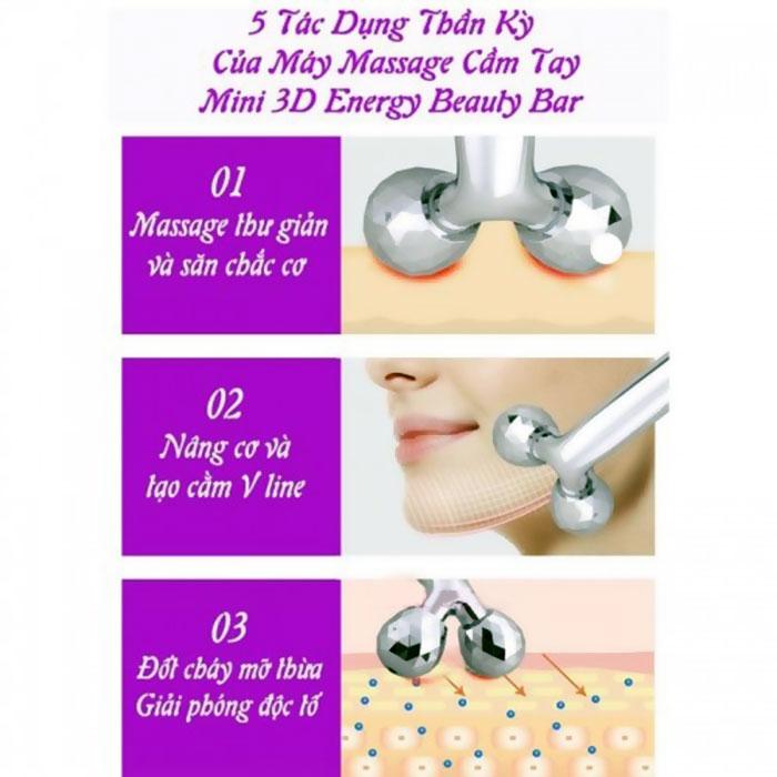 Máy massage mặt tạo cầm Vline Energy Beauty Bar