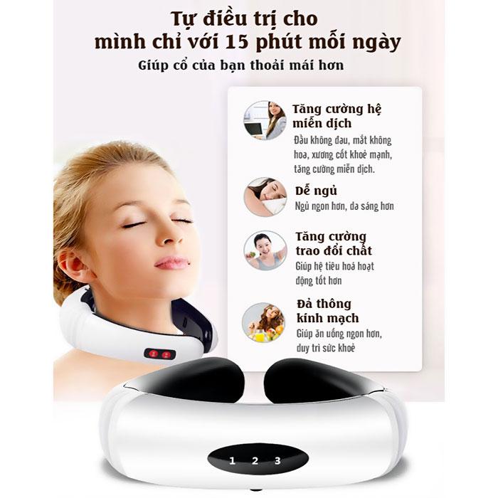 Máy massage cổ xung điện 3D KL-5830 màu trắng
