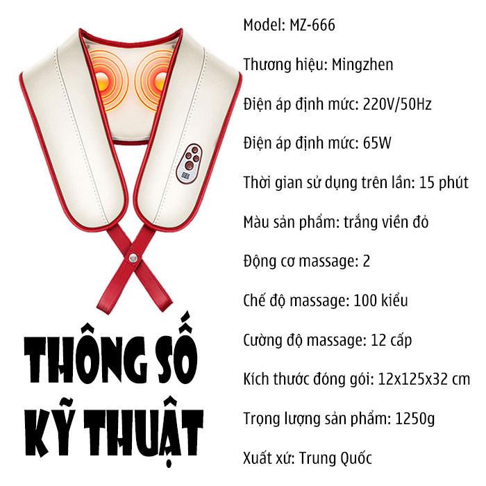 Đai massage cổ  gáy Mingzhen MZ-666