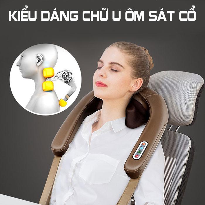Máy massage cổ xoa bóp ấn huyệt trị liệu đau mỏi