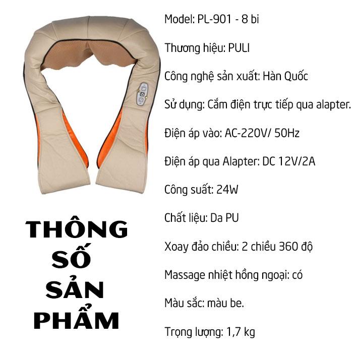 Máy massage 8 bi PULI PL-901