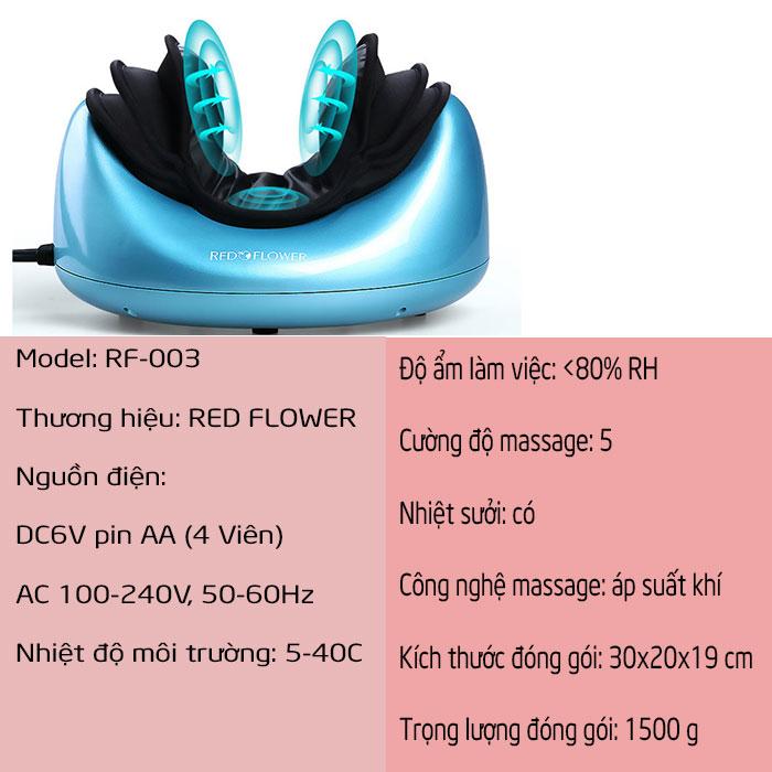 Máy massage cổ áp suất khí RED FLOWER RF-003