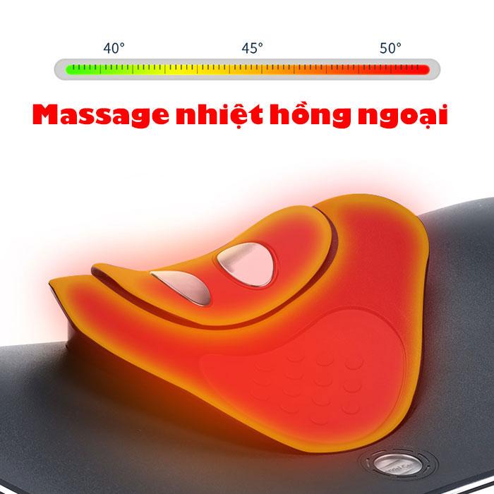 Máy massage cổ xung điện kết hợp áp suất khí RED FLOWER