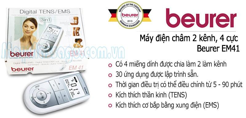 Máy massage điện châm 2 kênh Beurer EM41