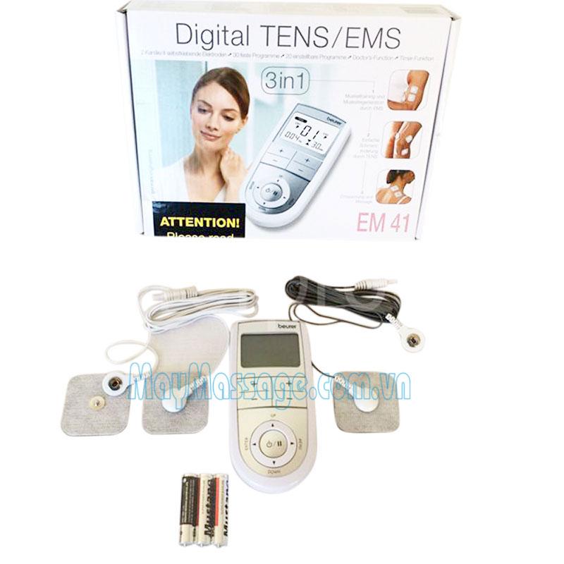 Máy massage điện châm 2 kênh 4 cực Beurer EM41