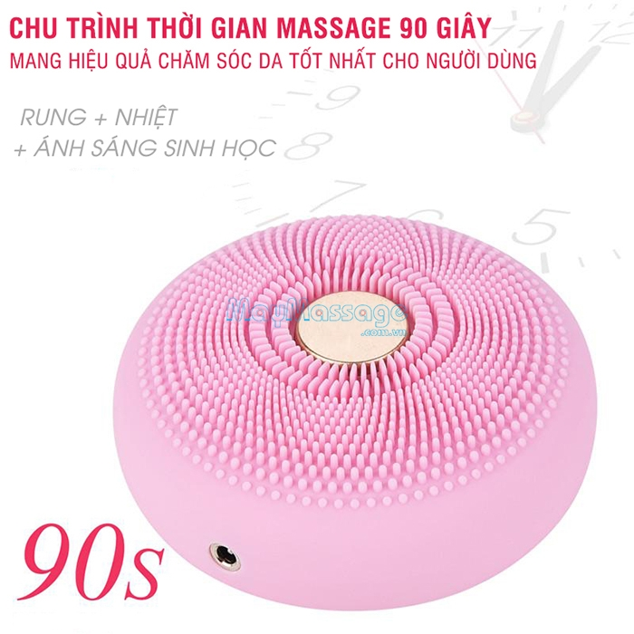 Máy rửa mặt kết hợp massage làm đẹp da 2in1 Ultra Top Secret