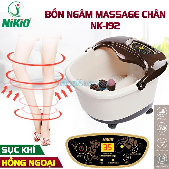 Bồn ngâm chân massage hồng ngoại đa năng Nhật Bản Nikio NK-192