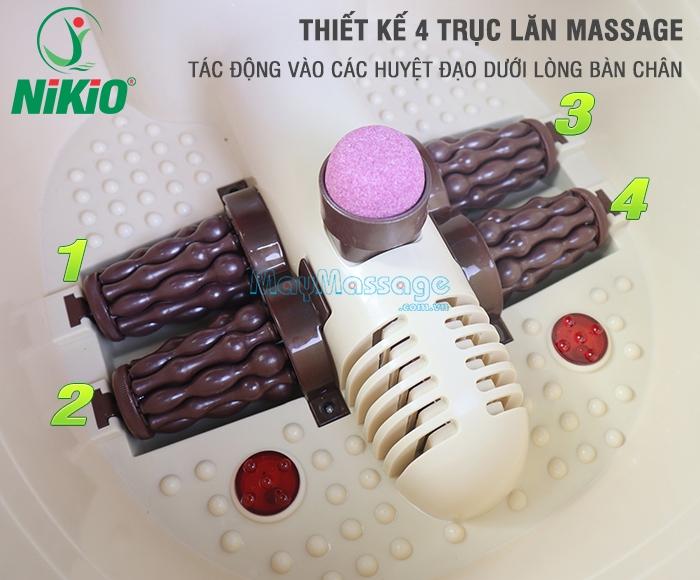 Bồn ngâm chân massage đa năng Nhật Bản Nikio NK-192