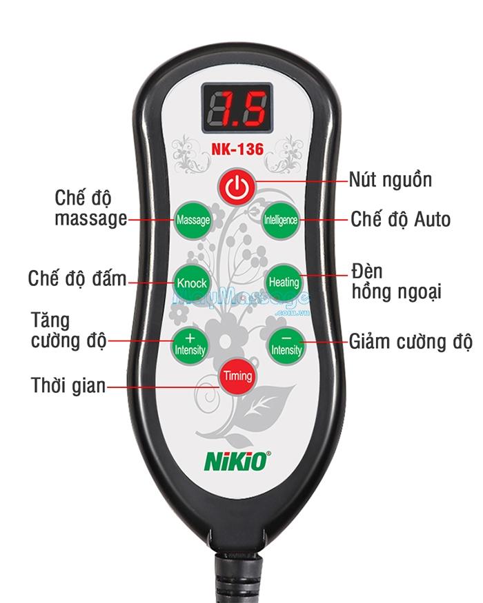 Máy mát xa lưng hồng ngoại Nikio NK-136AC