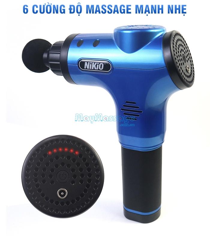 Súng massage cầm tay 6 cường độ  Nikio NK-170A màu xanh