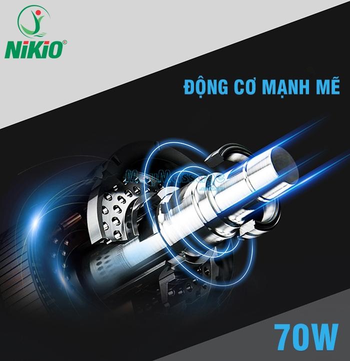 Súng massage cầm tay công suất 70W Nikio NK-170A màu xanh