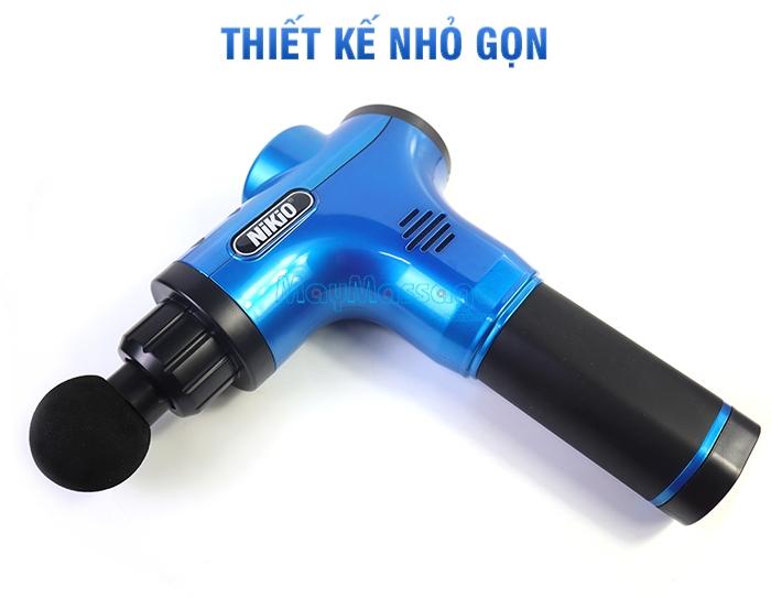 Súng massage cầm tay pin sạc Nikio NK-170A màu xanh