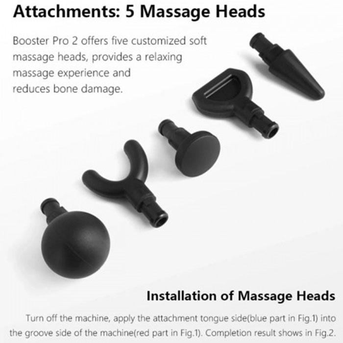 Súng massage gun điều trị căng cơ Booster PRO 2 - 135W