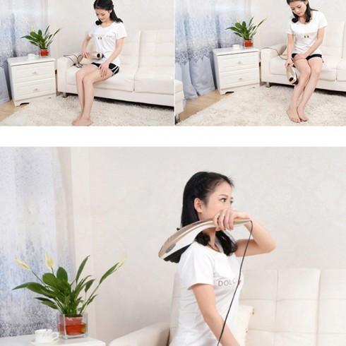 Máy massage cầm tay cán dài 5 đầu Puli PL-610B - Điện tử