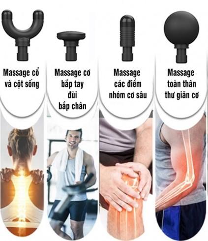 Súng massage cầm tay trị đau mỏi căng cơ Booster MINI chính hãng