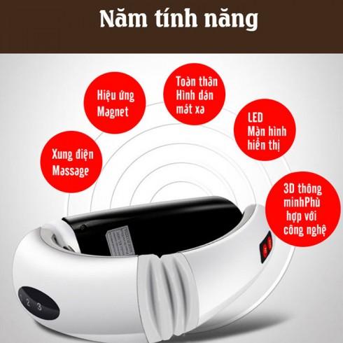 Máy massage cổ 3D xung điện trị liệu KL-5830