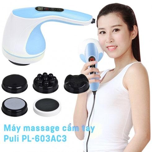 Máy massage cầm tay Hàn Quốc 8 đầu Puli PL-603AC3 - Điện tử
