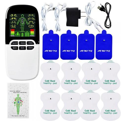 Máy massage xung điện 8 miếng dán và đèn hồng ngoại JINGYAO JY-A818